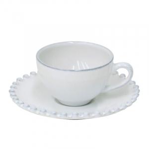 Чашка с блюдцем для кофе Pearl