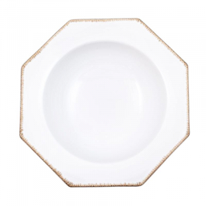 Тарелка для супа Costa Nova Luzia белая 24 см