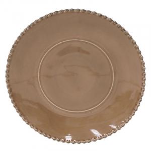 Коричневая тарелка для нарезки Pearl