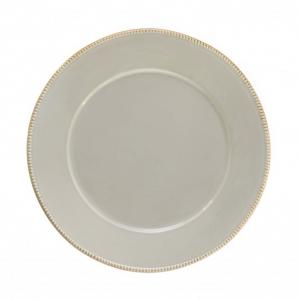 Блюдо круглое светло-серое Luzia