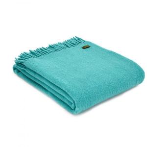Плед Tweedmill Plain Weave Jade 150×183 см бирюзовый