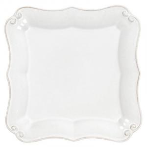 Квадратная десертная тарелка из белой керамики Barroco