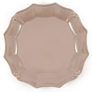 Тарелка обеденная цвета какао Barroco