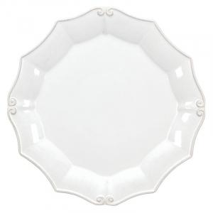 Тарелка подставная белая Barroco
