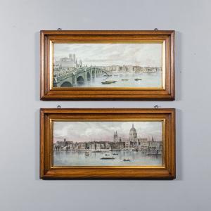Набор 2-х репродукций картин Decor Toscana Вид на Темзу 38×73 см