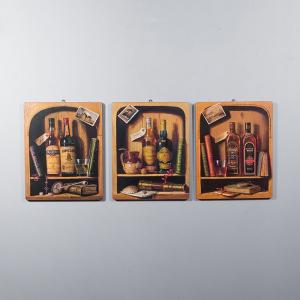 Набор 3-х репродукций картин Decor Toscana Виски 45×56 см