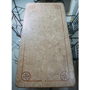 Стол из итальянского травертина в стиле со старинным дизайном Amantea