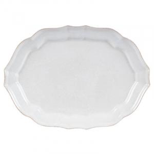 Блюдо овальное Impressions белое