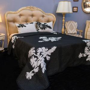 Покрывало черно-белое +2 наволочки Sheila Villa Grazia Premium