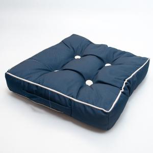 Подушка для стула Centrotex Shine синяя/слоновая кость