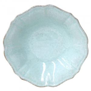 Тарелка для супа бирюзовая из огнеупорной керамики Impressions