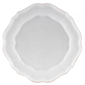 Белая тарелка Impressions