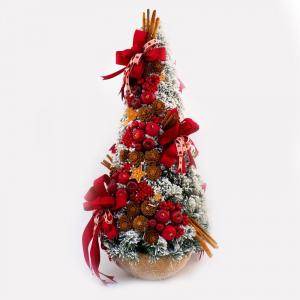Новогодняя ель в округлой подставке