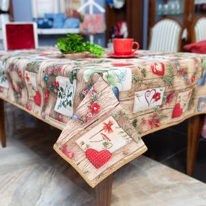 Скатерть гобеленовая Villa Grazia Premium Деревенская романтика 160×360 см