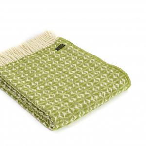 Плед Tweedmill Cob Weave 150×200 см оливковый