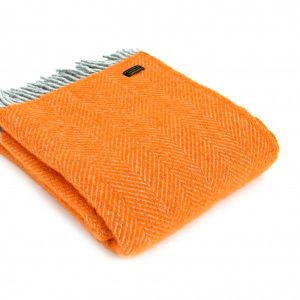 Плед оранжевый Herringbone