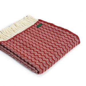 Плед Tweedmill  Zig Zag 150×183 см бордовый