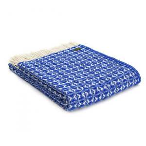 Плед Tweedmill Cobweave Royal Blue 150×200 см синий