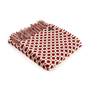 Плед Tweedmill CrossroadsRust 150×183 см красный
