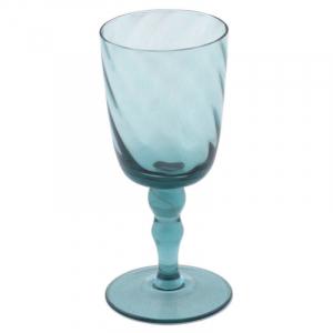 Бокал для вина стеклянный в голубом цвете Torson