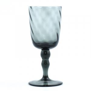 Бокал стеклянный для вина сизого цвета Torson