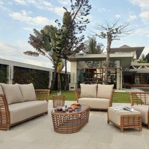 Комплект мебели из коричневого ротанга Villa Natural Mushroom
