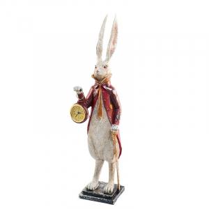 """Статуэтка-часы из полирезина """"Кролик с часами"""""""
