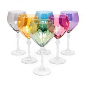 Набор разноцветных бокалов для воды, 6 шт
