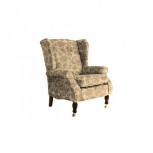 Кресло York Wing Baslow Floral Mink