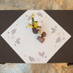 Наперон Villa Grazia Золотые гребешки 85×85 см