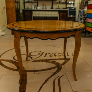 Раздвижной обеденный стол из натурального массива французской вишни Luis XV
