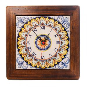 Часы квадратные керамические с орнаментом