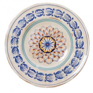 Тарелка декоративная из керамики ручной работы Geometric