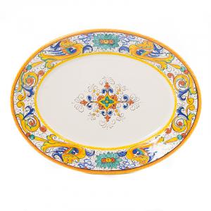 Тарелка настенная овальная Raffaellesco