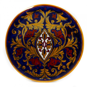 Тарелка декоративная ручной работы Lustro Antico