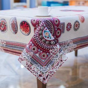 Скатерть гобеленовая Villa Grazia Premium Цветочная мандала 140×240 см