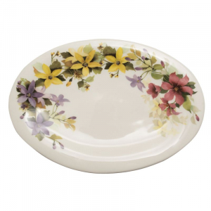 Овальное блюдо с красочным рисунком «Цветочное настроение»