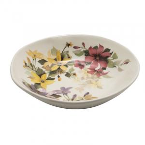 Глубокая тарелка для супа с рисунком в весенней палитре «Цветочное настроение»