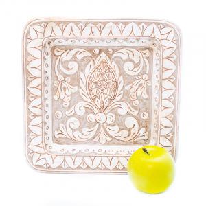 Тарелка квадратная декоративная с патиной Scalfito