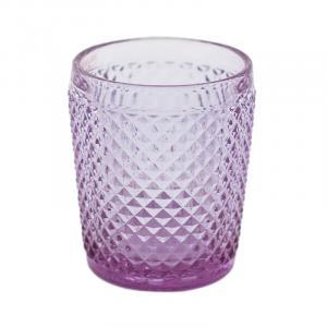 Фиолетовый стакан из рифленого стекла