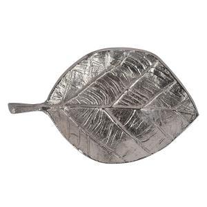 Алюминиевое блюдо-листок серебристого цвета Gros
