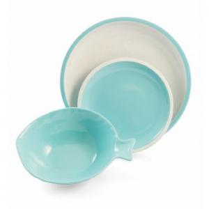 Комплект тарелок Villa d'Este Sardino бирюзовые 3 шт.
