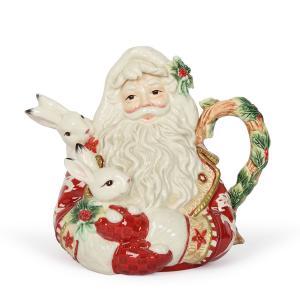 Рождественский керамический заварник в виде Деда Мороза