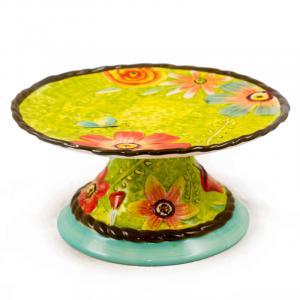 Тортовница с цветочным рисунком Spring