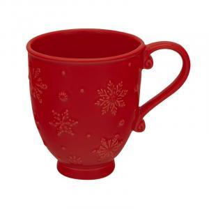 """Чашка чайная с новогодним узором """"Снежинки"""""""