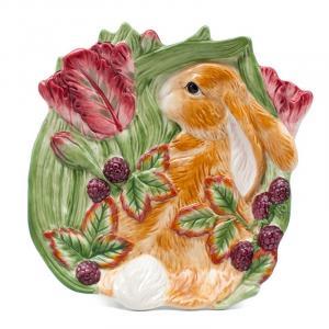 Тарелка десертная Кролик в траве