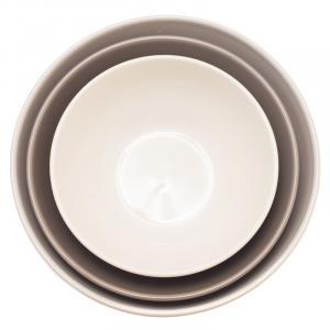 Набор из 3-х салатников серый/серо-коричневый/кремовый