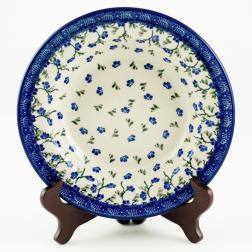 Тарелка для супа с синим орнаментом