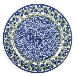 Тарелка десертная с синим узором