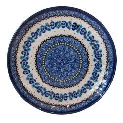 Тарелка десертная с синим орнаментом